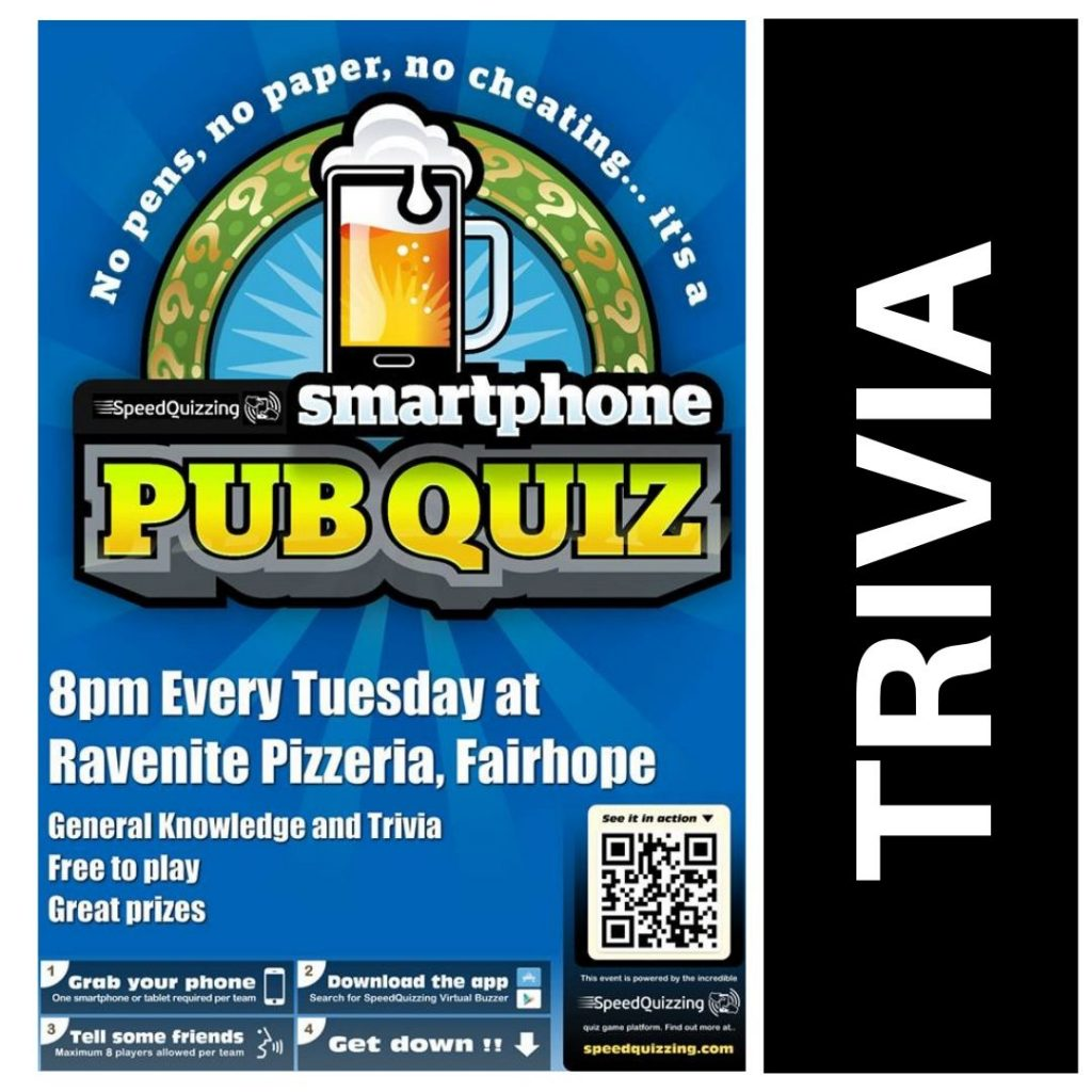 Pub Quiz TriviaTuesday Entertainment Ravenite Pizzeria