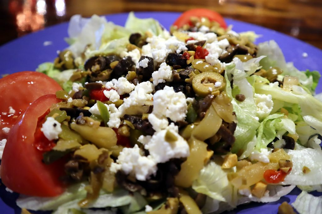 Greek Salad Ravenite Pizzeria